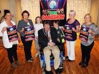 At the launch of the 'Recovery Haven Family Gameshow' were Patricia Glavin (Glavin Family). Philomena Stack (Recovery Haven), Lana McDonagh, Terry and Mark O'Brien (O'Brien Family) Eileen Comerford (Recovery Haven) and Deirdre Power (Glaven Family). Photo by Gavin O'Connor.