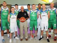 At the launch of the Irish TV Tralee Warriors basketball Super League team were, from left: