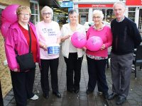 At Irish Cancer Society the Paint  it  Pink coffee morning  were, from left: Eileen King, Chriss Griffin, Mary O'Halloran, Maureen Roach, Pat Flaherty. Photo by Gavin O'Connor.