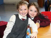 Starting in Moyderwell National School were, from left: Freya Dennehy and Hannah Walsh. Photo by Gavin O'Connor.