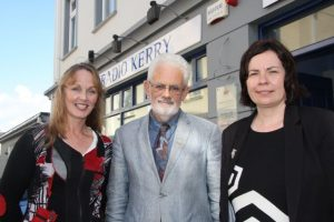 Announcing details of the new arts slot on the Saturday Supplement on Radio Kerry – l-r: Kate Kennelly (Arts Officer, Kerry County Council), Frank Lewis (Radio Kerry), Moira Murrell (Chief Executive, Kerry County Council).