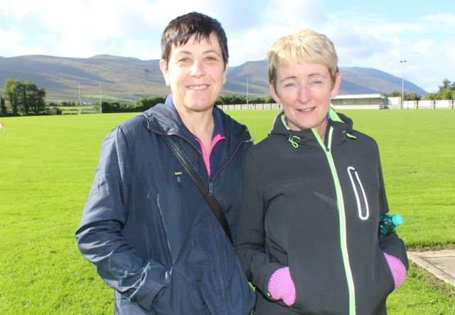 Martina Dairo and Lou Irwin at the Tony O'Donoghue Memorial Walk at St Pat's GAA Club on Sunday. Photo by Dermot Crean