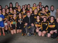 The victorious Austin Stacks after accepting the Kirbys Brogue Inn Perpetual Cup.  Photo by Adrienne Mc Loughlin.