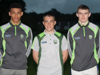 Stefan Okunbor, Ryan O'Neill and Diarmuid O'Connor of Na Gaeil Football club, members of the Kerry Minor Panel that take on Galway in the All Ireland Final in Croke Park on Sunday next.