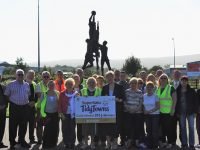 Members of community and Kerry County Council at Clashlehane Roundabout. Photo by Gavin O'Connor.