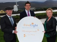 Launching #Firtslightkerry100 were, TD Michael Healy Rae, David Moran and Jennifer Foran Smyth Fundraising Manager FirstLight. Photo by Gavin O'Connor.