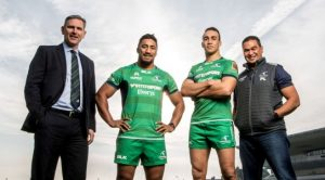 Coonacht players Bundee Aki and Ultan Dillane who signed contract extensions today.
