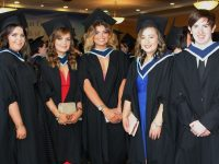 Shauna Dineen, Laurie O'Connor, Katie Carmody, Elaine Healy and Robert Brown, at IT Tralee Graduation Day. Photo by Gavin O'Connor.