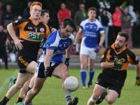 Action from the Semi-final of Coiste Thra Li Senior Football Championship between Austin Stacks and Kerins O'Rahillys. Photo by Adrienne McLoughlin.