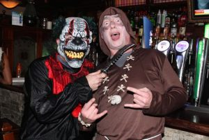 Richard McBride and Manus Leane at the Halloween Fancy Dress Rock Night on Saturday in the Abbey Inn. Photo by Dermot Crean