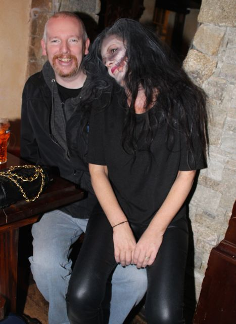 Mark and Catherine Duffy at the Halloween Fancy Dress Rock Night on Saturday in the Abbey Inn. Photo by Dermot Crean