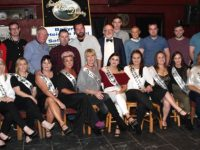 The contestants in the St Brendan's Hurling Club 'Strictly Come Dancing' with MC for the event, Murt Murphy, at the launch of the event at The Abbey Tavern Ardfert on Friday night. Photo by Dermot Crean