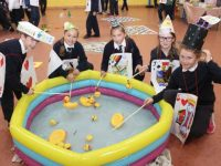 Caherleaheen fourth class pupils taking part in games for Maths Week. Photo by Dermot Crean
