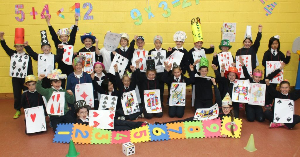 Caherleaheen fourth class pupils having fun during Maths Week. Photo by Dermot Crean