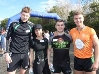 Jack O'Connell, Charlotte Griffin, PJ O'Mahony and Ivan Parker at the Churchill 6k on Sunday. Photo by Dermot Crean