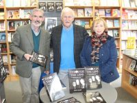 Neilus and Mary Colgan with John Cleary at his book signing event on Saturday. Photo by Dermot Crean