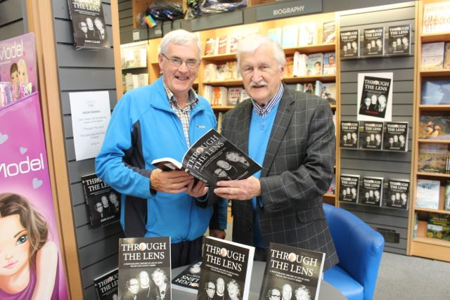 John Harrington with John Cleary at his book signing event on Saturday. Photo by Dermot Crean