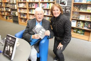 Maureen Guerin with John Cleary at his book signing event on Saturday. Photo by Dermot Crean