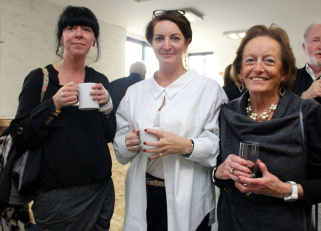 Karina Corbett, Maeve Moriarty of Maeve Moriarty Consulting and Morna Clifford at the official opening of HQ Tralee on Friday afternoon. Photo by Dermot Crean