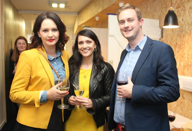 Joanna Kelly, Digital Greetings, Aisling Carmody, Creative Practice and Derek Kelly, Digital Greetings at the official opening of HQ Tralee on Friday afternoon. Photo by Dermot Crean
