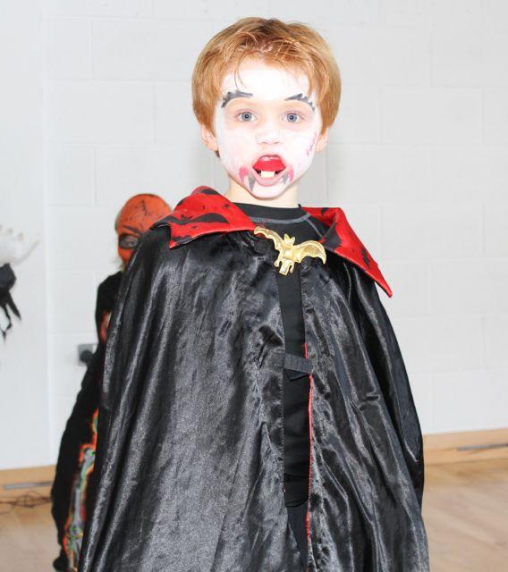 Barry O'Sullivan enjoying Halloween fun at St Brendan's NS Blennerville on Friday. Photo by Dermot Crean