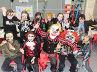 Third class pupils enjoying Halloween fun at St Brendan's NS Blennerville on Friday. Photo by Dermot Crean