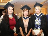 Lorraine Hobbert, Mary Lyne and Maria Molyneaux (Culinary Arts) at the IT Tralee conferring ceremony at the Brandon Hotel Conference Centre on Friday morning. Photo by Dermot Crean
