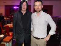 Singer Leo O'Kelly with Mike Moriarty of Il Forno Restaurant before the gig on Saturday night. Photo by Dermot Crean