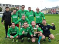 The Boys From The Avenue celebrate their success. Photo by Dermot Crean