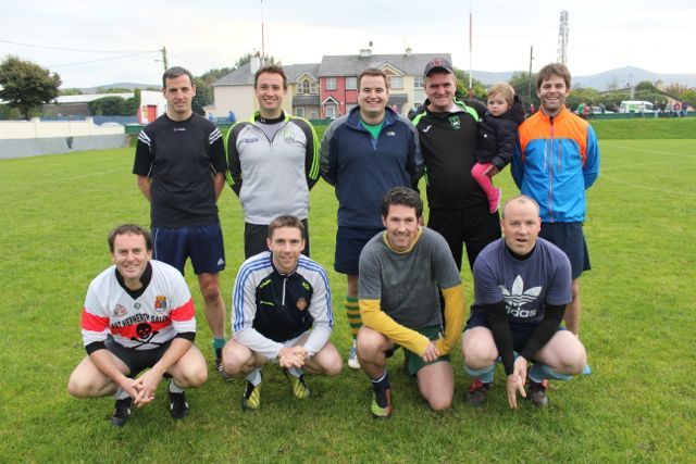 Eoin Kelliher's team who made the semi-finals of the Over 35s. Photo by Dermot Crean