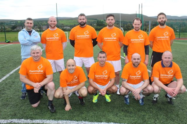 'Temple Bar Davys' team who made the final of the Over 35s. Photo by Dermot Crean