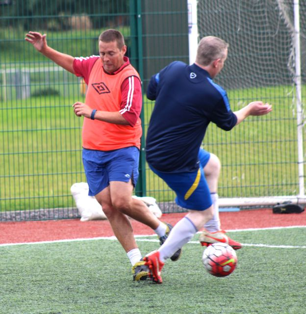 Action from one of the group games. Photo by Dermot Crean