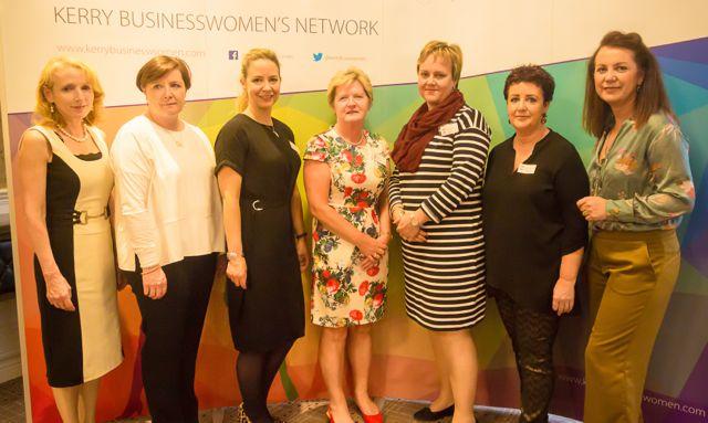 Miriam McGillicuddy, Clio O'Gara, Elin Sorenson, Jean Quille, Yolande Nieman, Liz Maher at the KBN Launch Pad event in the Rose Hotel last Wednesday. Photo by Tara O'Donoghue