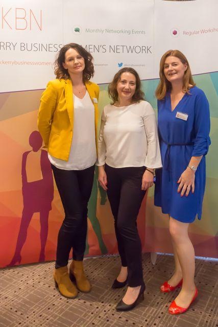Joanna Kelly, Monika Mikolajczuk, Caitriona Py Collins at the KBN Launch Pad event in the Rose Hotel last Wednesday. Photo by Tara O'Donoghue