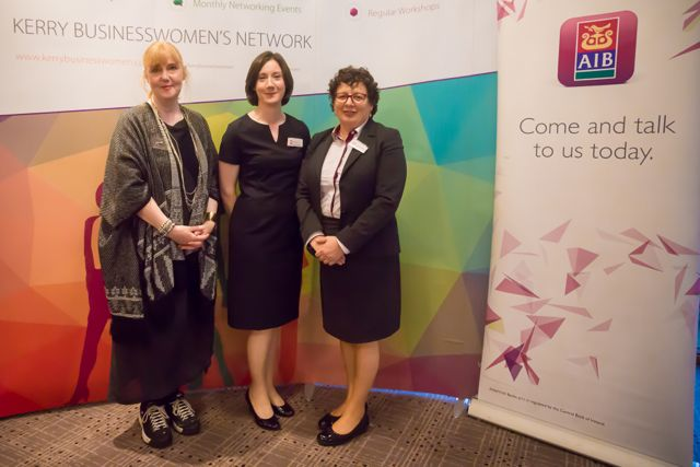 Monica O'Connor, Maria Galvin, Margaret O'Sullivan at the KBN Launch Pad event in the Rose Hotel last Wednesday. Photo by Tara O'Donoghue