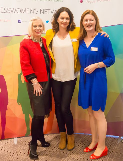Orlagh Winters, Joanna Kelly, Caitriona Py Colllins at the KBN Launch Pad event in the Rose Hotel last Wednesday. Photo by Tara O'Donoghue