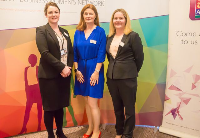 Carolyn Murphy, Caitriona Py Collins, Emer O'Connor at the KBN Launch Pad event in the Rose Hotel last Wednesday. Photo by Tara O'Donoghue