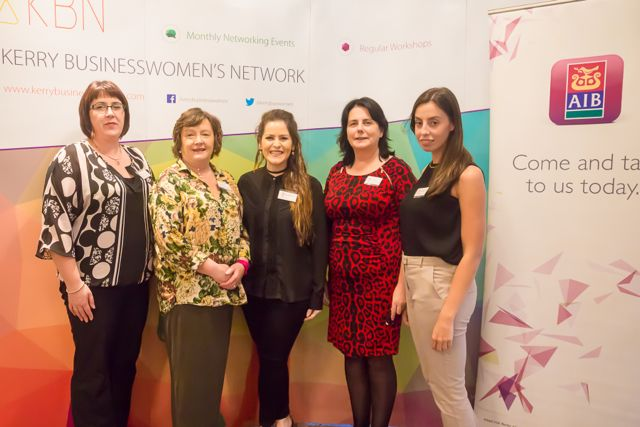 Aoife O'Reilly, Deirdre Fee, Kara O'Shea, Sinead Sheehan,Aisling Sheehan at the KBN Launch Pad event in the Rose Hotel last Wednesday. Photo by Tara O'Donoghue