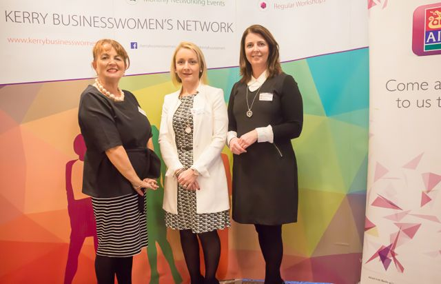 Mairead Moriarty, Lisa Geaney, Denise Bourke at the KBN Launch Pad event in the Rose Hotel last Wednesday. Photo by Tara O'Donoghue