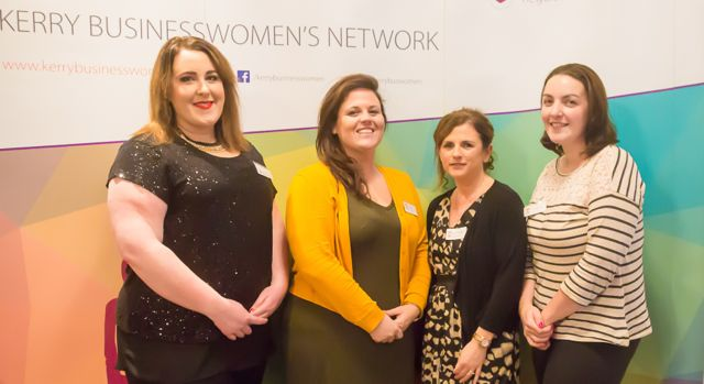 Aisling McElligott, Shirley Cleary, Mairead O'Carroll, Lisa Hutchinson at the KBN Launch Pad event in the Rose Hotel last Wednesday. Photo by Tara O'Donoghue