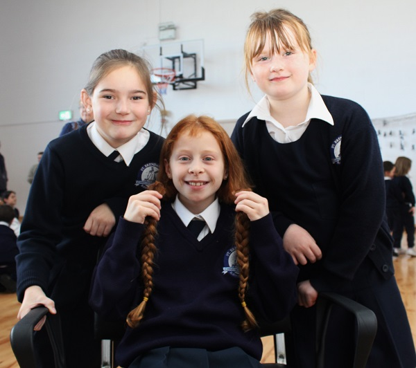 Kayla O'Connor with her two best friends in school, Grainne O'Donnell and Ella Gavin. Photo by Gavin O'Connor.