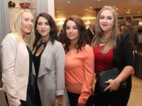 Beauty Therapy students Maureen Brosnan, Jessica O'Connor, Sheena Murray and Emma Herlihy at the Kerry ETB Presentation of Certificates ceremony in The Rose Hotel on Wednesday. Photo by Dermot Crean