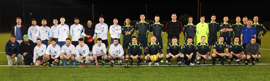 The Garda and Bons Secours teams for the Mary Kate Healy Memorial Cup. Photo by Gavin O'Connor.