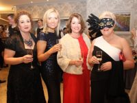 Brid McElligott Rusk, Sandra Rusk, Anne Looney and Mary McCaffrey at the Pieta House Masquerade Ball in The Rose Hotel on Friday night. Photo by Dermot Crean