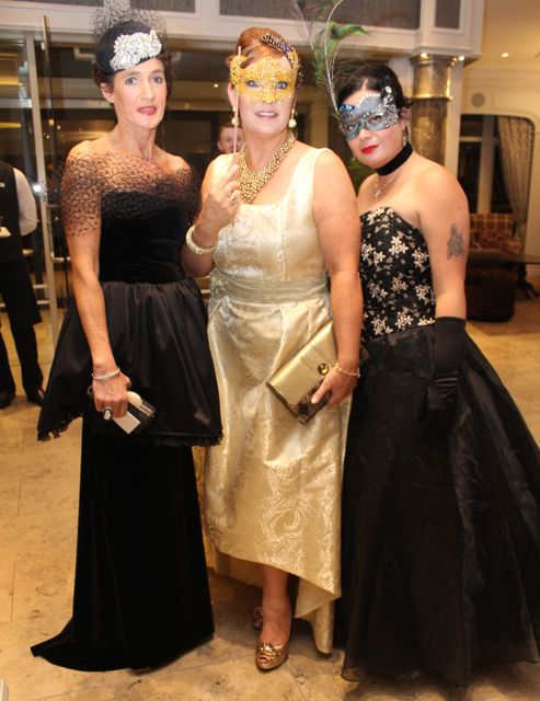 Mary Kelliher, Killorglin, Eileen Kennedy, Caragh Lake and Cathy Troth at the Pieta House Masquerade Ball in The Rose Hotel on Friday night. Photo by Dermot Crean
