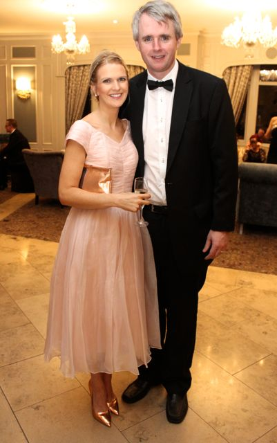 Michelle and Denis McCarthy at the Pieta House Masquerade Ball in The Rose Hotel on Friday night. Photo by Dermot Crean