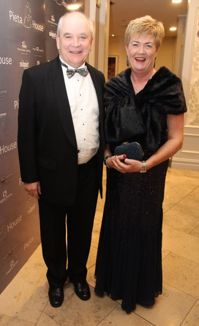 Michael and Rachel Moynihan at the Pieta House Masquerade Ball in The Rose Hotel on Friday night. Photo by Dermot Crean