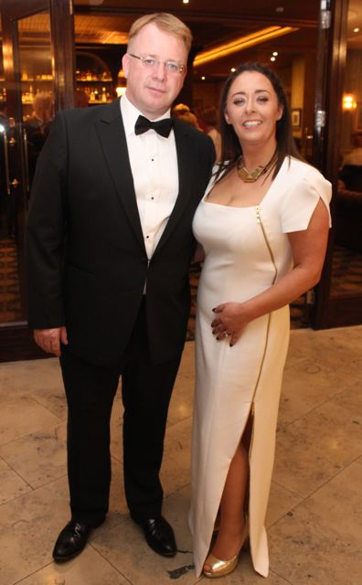 Frank and Suzanne Stephenson at the Pieta House Masquerade Ball in The Rose Hotel on Friday night. Photo by Dermot Crean