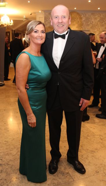 Joan and Johnny McElligott at the Pieta House Masquerade Ball in The Rose Hotel on Friday night. Photo by Dermot Crean