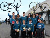 Launching Mercy Mounthawk health week were, in front: Michael O'Gara, Ciaran Monaghan, Kieran Coggins, and Saoirse Murphy. Back: Ian McCarthy, Meagan McBride, Patricia Motor, Niall Hurley, Rachel Godley, Orla O'Reilly, Dylan O'Shea and Aideen Fox. Photo by Gavin O'Connor.